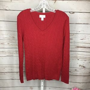 Ann Taylor Loft Cable Knit Long Sleeve Sweater L